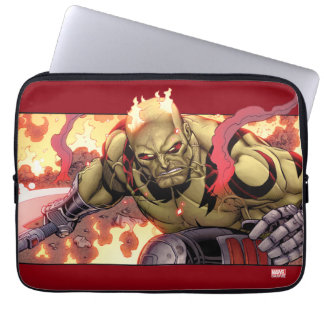 Guardians of the Galaxy | Drax In Flames Laptop Sleeves