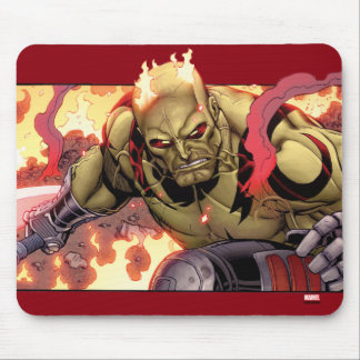 Guardians of the Galaxy | Drax In Flames Mouse Pad