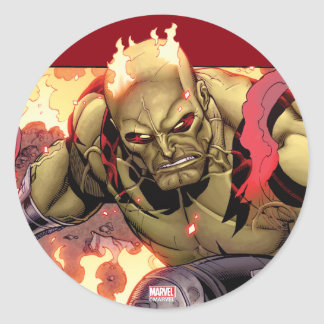 Guardians of the Galaxy | Drax In Flames Round Sticker