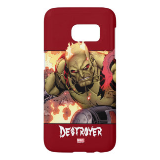 Guardians of the Galaxy | Drax In Flames Samsung Galaxy S7 Case