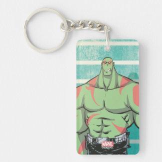 Guardians of the Galaxy | Drax Mugshot Double-Sided Rectangular Acrylic Keychain