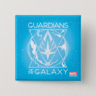 Guardians of the Galaxy | Galactic Logo Badge 2 Inch Square Button