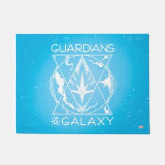 Guardians of the Galaxy   Galactic Logo Badge Doormat