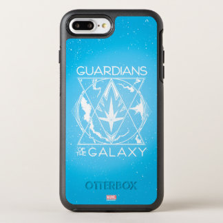 Guardians of the Galaxy | Galactic Logo Badge OtterBox Symmetry iPhone 8 Plus/7 Plus Case