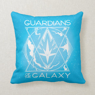 Guardians of the Galaxy | Galactic Logo Badge Throw Pillow