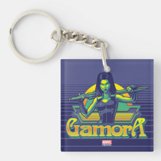Guardians of the Galaxy | Gamora Cartoon Badge Double-Sided Square Acrylic Keychain