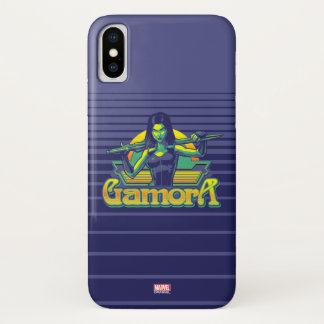 Guardians of the Galaxy | Gamora Cartoon Badge iPhone X Case