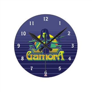 Guardians of the Galaxy | Gamora Cartoon Badge Round Clock