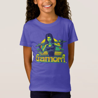 Guardians of the Galaxy | Gamora Cartoon Badge T-Shirt