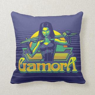 Guardians of the Galaxy | Gamora Cartoon Badge Throw Pillow
