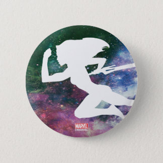 Guardians of the Galaxy | Gamora Galaxy Cutout 2 Inch Round Button