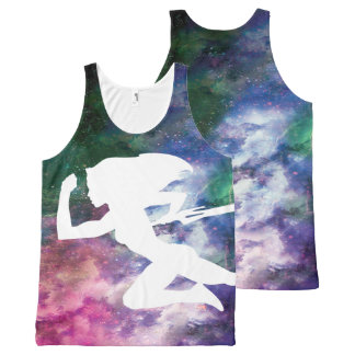 Guardians of the Galaxy | Gamora Galaxy Cutout All-Over-Print Tank Top