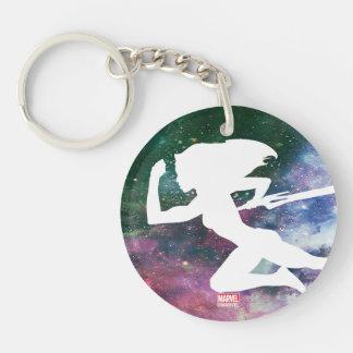 Guardians of the Galaxy | Gamora Galaxy Cutout Keychain