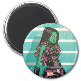 Guardians of the Galaxy | Gamora Mugshot 2 Inch Round Magnet