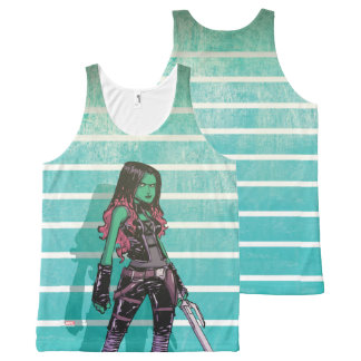 Guardians of the Galaxy | Gamora Mugshot All-Over-Print Tank Top