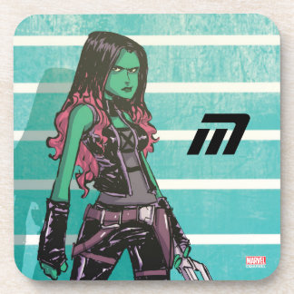 Guardians of the Galaxy | Gamora Mugshot Drink Coasters