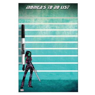 Guardians of the Galaxy | Gamora Mugshot Dry Erase Board