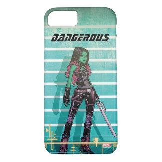Guardians of the Galaxy | Gamora Mugshot iPhone 8/7 Case
