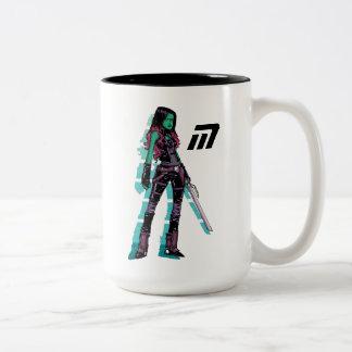 Guardians of the Galaxy | Gamora Mugshot Two-Tone Coffee Mug
