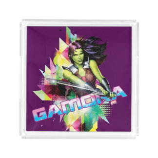 Guardians of the Galaxy | Gamora Neon Graphic Acrylic Tray
