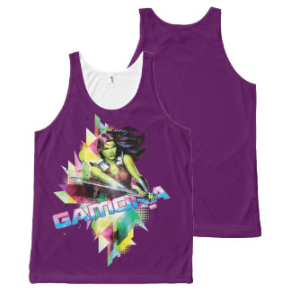 Guardians of the Galaxy   Gamora Neon Graphic All-Over-Print Tank Top