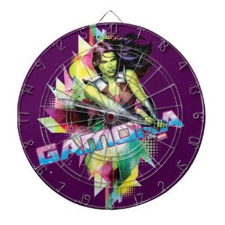 Guardians of the Galaxy   Gamora Neon Graphic Dartboard With Darts