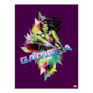 Guardians of the Galaxy | Gamora Neon Graphic Poster