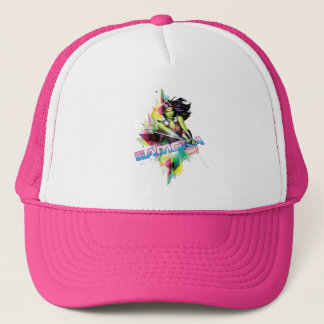 Guardians of the Galaxy | Gamora Neon Graphic Trucker Hat