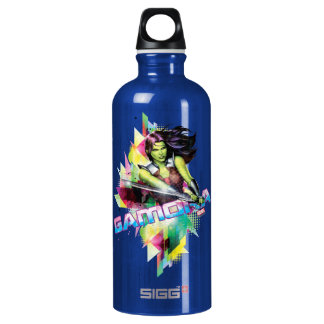 Guardians of the Galaxy | Gamora Neon Graphic Water Bottle