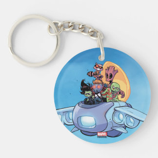 Guardians of the Galaxy | Gamora Pilots Ship Double-Sided Round Acrylic Keychain