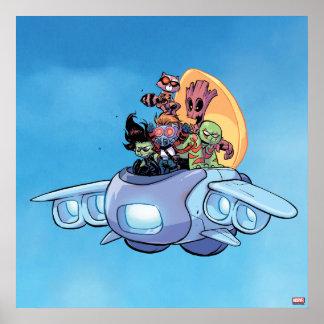 Guardians of the Galaxy | Gamora Pilots Ship Poster