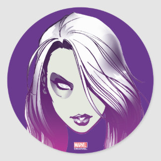 Guardians of the Galaxy | Gamora Watercolor Round Sticker