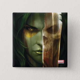 Guardians of the Galaxy | Gamora With Blade 2 Inch Square Button