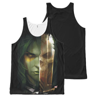 Guardians of the Galaxy | Gamora With Blade All-Over-Print Tank Top
