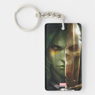 Guardians of the Galaxy | Gamora With Blade Double-Sided Rectangular Acrylic Keychain