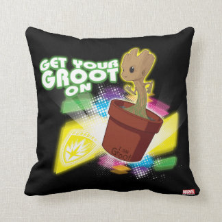Guardians of the Galaxy | Get Your Groot On Throw Pillow
