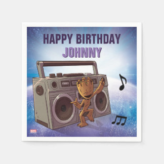 Guardians of the Galaxy - Groot - Birthday Paper Napkins
