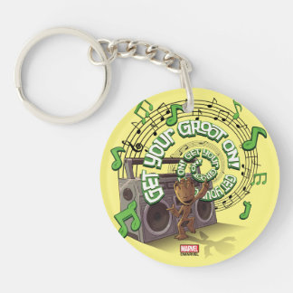 Guardians of the Galaxy | Groot Boombox Double-Sided Round Acrylic Keychain