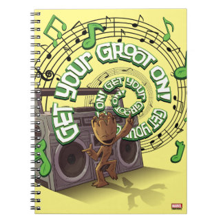 Guardians of the Galaxy | Groot Boombox Spiral Notebook