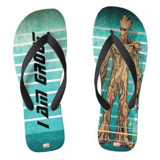 Guardians of the Galaxy | Groot Mugshot Flip Flops