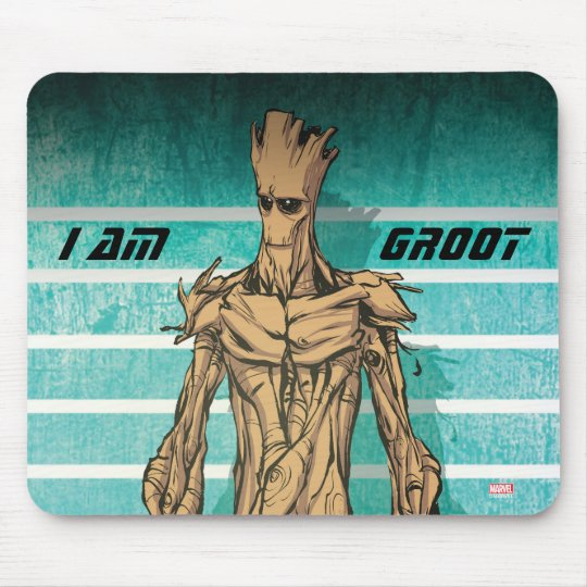 Guardians of the Galaxy | Groot Mugshot Mouse Pad