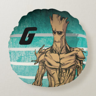 Guardians of the Galaxy | Groot Mugshot Round Pillow