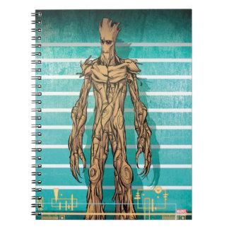 Guardians of the Galaxy | Groot Mugshot Spiral Notebook