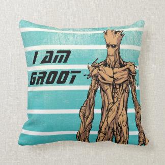 Guardians of the Galaxy | Groot Mugshot Throw Pillow