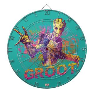 Guardians of the Galaxy   Groot Neon Graphic Dartboard With Darts