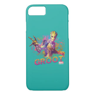 Guardians of the Galaxy | Groot Neon Graphic iPhone 8/7 Case