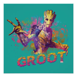 Guardians of the Galaxy | Groot Neon Graphic Poster