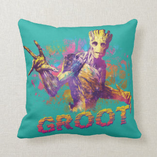 Guardians of the Galaxy | Groot Neon Graphic Throw Pillow