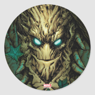Guardians of the Galaxy | Groot Through Branches Round Sticker