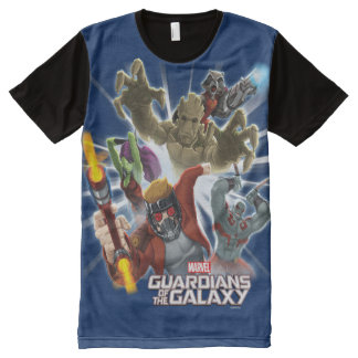 Guardians of the Galaxy | Group Attack All-Over-Print T-Shirt